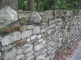 Stone wall Ashley Avenue